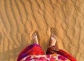 πόδια στην έρημο — Φωτογραφία Αρχείου