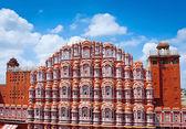 Famous Rajasthan landmark - Hawa Mahal palace — Stock Photo
