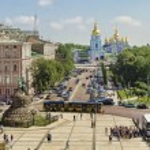 Sofia square in Kyiv — Stock Photo