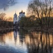 The Pskov Kremlin sunset  — Stock Photo