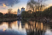 The Pskov Kremlin sunset — Stock Photo