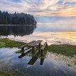 Morning on the Lake Seliger — Stock Photo