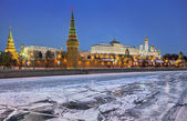 Kremlin embankment — Stock Photo
