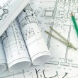 Development of project drawings — Stock Photo