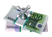 The valve on the money — Foto Stock