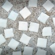 White squares in the concrete wall — Stock Photo