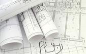 Projektzeichnungen — Stockfoto