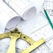 Stock Photo: Project drawings