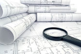 Project drawings — Stock Photo