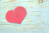 Heart on the background of wooden slats — Stock Photo