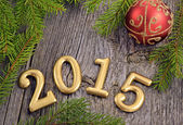 New Year background with decorations — Stock Photo