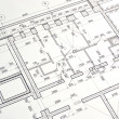Drawing a floor plan of the building — Stock Photo #48269655