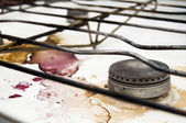 Dirty stove when — Stock Photo