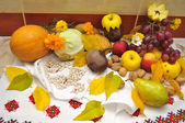 Lots of fruits and vegetables — Stock Photo