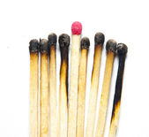 Burned matches — Stock Photo