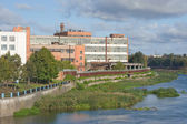 The Tula arms plant (TOZ) on the Bank of the river UPA — Stock fotografie