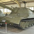 Постер, плакат: Experienced heavy tank IS 7 Joseph Stalin 7 in the Museum of armored vehicles Kubinka side View