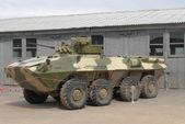 Ervaren personeel vervoerder btr-90 op de stortplaats op koebinka — Stockfoto