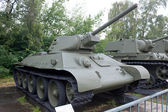 Soviet historical average tank T-34-76 in the Central Museum of Armed forces, Moscow, RUSSIA — Stock Photo