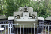 Soviet historical trehyadernye the T-28 tank in the Central Museum of Armed forces, front view, Moscow, RUSSIA — Foto Stock