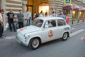Retro car Zaporozhets ZAZ-965A at the rally Gorkyclassic, Moscow — Stock Photo