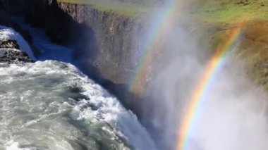 Gullfoss waterfall, Iceland. — Stock Video
