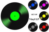 LP Long Play microgroove vinyl gramophone records — Stock Photo