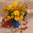 Two bouquets of wild flowers — Stock Photo