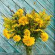 Stock Photo: Bouquet of wild and cultivated yellow flowers