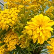 Stock Photo: Yellow flowers bouquet fragment