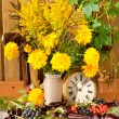 Yellow flowers bouquet still life — Stock Photo