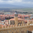 Avila Spain. View on the town from the fortress wall — Stock Photo