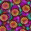 Bright multicolor floral abstract pattern illustration — Stock Photo