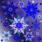 Snowflakes on the gradient square background vector illustration — Stock Vector