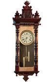 白で隔離されるアンティーク時計 — ストック写真