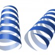 Blue swirl ribbons vector illustration — 图库矢量图片