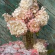 Wet still life with pink hydrangea — Stock Photo #32282685