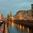Church of the Savior on Spilled Blood at night — Stock Photo