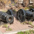 Two cannon guns replica on the Rostov on Don street — Stock Photo