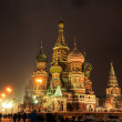 St Basils Cathedral at winter night — Stock Photo #37688449