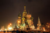 St Basils Cathedral at winter night — Stock Photo