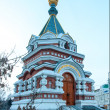Stock Photo: Omsk, Russia. Serafimo-Aleksievsky chapel. Winter.