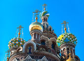 Cupola of the Church of the Savior on Blood, St Petersburg, Russia — Stock Photo
