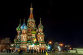 St Basil Cathedral at night, Moscow, Russia — Foto de Stock