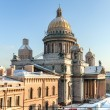 Постер, плакат: St Isaak cathedral in winter St Petersburg Russia