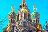 Cupola of the Church of the Savior on Blood, St Petersburg — Stock Photo