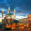 "Mosque ""Kul Sharif"" at night in Kazan Kremlin, Tatarstan, Russia — Stock Photo"