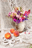 Still life bouquet with bright flowers — Stock Photo
