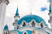 La mezquita kul sharif kremlin de kazan, tatarstan, rusia — Foto de Stock