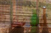 Still life vases on the windowsill — Stock Photo